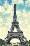 The Eiffel Tower in Paris, France. Instagram Style Filter Photographic Print by  Zoom-zoom