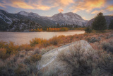Autumn Sunset at June Lake Eastern Sierras California Photographic Print by Vincent James