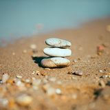 Stack of Stones on the Sea Beach Photographic Print by  dachazworks
