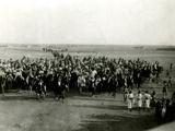 WW1 - Feisal's Army Coming into Yanbu, Saudi Arabia Photographic Print