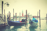 Gondolas in Venice, Italy. Instagram Style Filtred Photographic Print by  Zoom-zoom