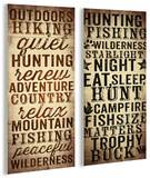 Outdoors And Hunting Typography Duo Wood Sign