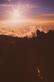Sunset Star From Haleakala Volcano Maui Photographic Print by Vincent James