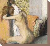 After the Bath, Woman Drying Her Neck, 1898 Stretched Canvas Print by Edgar Degas