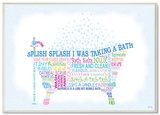 Splish Splash Bath Typography Wood Sign
