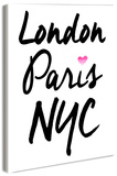 London Paris NYC Wood Sign
