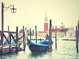 Gondola in Venice, Italy. Instagram Style Filtred Image Photographic Print by  Zoom-zoom