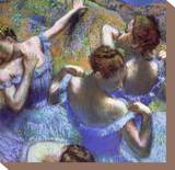 Blue Dancers, circa 1899 Stretched Canvas Print by Edgar Degas