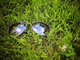 A Pair of Aviators on the Grass Toned with a Retro Vintage Instagram Filter Photo by  graphicphoto