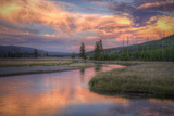 Riverside Sunset and Magical Clouds Yellowstone Photographic Print by Vincent James