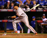 Joe Panik Game 1 of the 2014 World Series Action Photo