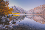 Morning Reflections in Autumn at Convict Lake Photographic Print by Vincent James