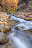 Water Through Stone The Virgin Narrows Southern Utah Photographic Print by Vincent James