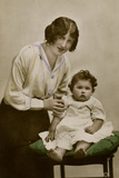 Gladys Cooper with One of Her Children Photographic Print