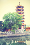 Pagoda in Shanghai, China. Instagram Style Filtred Image Photographic Print by  Zoom-zoom