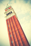 Campanile on San Marco Square in Venice, Italy. Instagram Style Filtred Photographic Print by  Zoom-zoom