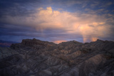 Dark Sunset Storm at Zabriskie Point Photographic Print by Vincent James