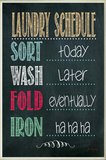 Laundry Schedule Chalkboard Look Wood Sign