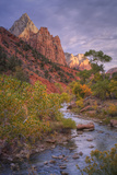 Morning Light at Zion Canyon Virgin River Utah Photographic Print by Vincent James