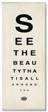 See The Beauty Chart Wood Sign