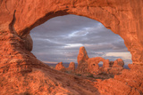 Morning View Through the North Window Arches Utah Photographic Print by Vincent James