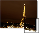 Cityscape Paris with Eiffel Tower at Night Prints by Philippe Hugonnard