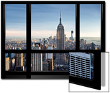 Window View, Special Series, Empire State Building, Manhattan, New York, United States Posters av Philippe Hugonnard