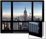 Window View, Special Series, Empire State Building, Manhattan, New York, United States Kunstdrucke von Philippe Hugonnard