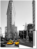 Flatiron Building - Taxi Cabs Yellow - Manhattan - New York City - United States Posters by Philippe Hugonnard