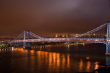 Williamsburg Bridge at Night from Brooklyn Photo Poster Prints