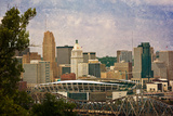 Downtown Columbus with the Football Stadium in the Foreground. this Image Has Been Treated with a T Photographic Print by  pdb1