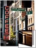 Coffee Shop Bar Sign, Union Square, Manhattan, New York, United States, Vintage Colors Kunstdrucke von Philippe Hugonnard