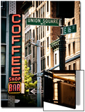 Coffee Shop Bar Sign, Union Square, Manhattan, New York, United States, Vintage Colors Posters by Philippe Hugonnard