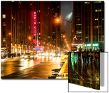 Urban Street View on Avenue of the Americas by Night Posters by Philippe Hugonnard