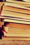 Closeup of a Piles of Books, with a Retro Effect Posters by  nito