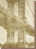 Non-Embellished Bridge Etching II Stretched Canvas Print by Ethan Harper