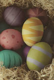 Decorated Nested Easter Eggs - Cross Processed Photographic Print by  frannyanne