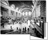 Lifestyle Instant, Grand Central Terminal, Black and White Photography Vintage, Manhattan, NYC, US Posters by Philippe Hugonnard