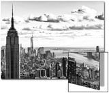 Skyline with the Empire State Building and the One World Trade Center, Manhattan, NYC Posters by Philippe Hugonnard