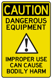 Caution Dangerous Machinery Advisory Work Place Poster Prints