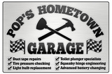 Pop's Hometown Garage Automotive Print Poster Prints