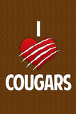 I Heart Cougars Humor Print Poster Posters