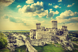 Ruins of A Castle, Ogrodzieniec Fortifications, Poland, Vintage Retro Filter. Photographic Print by Maciej Bledowski