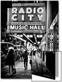 Urban Scene, Radio City Music Hall by Night, Manhattan, Times Square, New York, Classic Print by Philippe Hugonnard