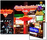 Vue Du Strip De Nuit À Las Vegas, Dans Le Névada XVI Art par Philippe Hugonnard