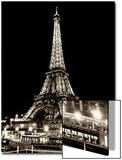 Eiffel Tower - Bateau mouche vedette de Paris - France Poster by Philippe Hugonnard