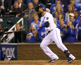 Omar Infante Game 2 of the 2014 World Series Action Photo