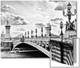Alexander III Bridge view - Paris - France Print by Philippe Hugonnard