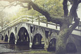 The Footbridge in Corolla, North Carolina is on the National Register of Historic Places. Photographic Print by  pdb1