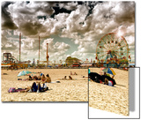 Vintage Beach, Wonder Wheel, Coney Island, Brooklyn, New York, United States Prints by Philippe Hugonnard